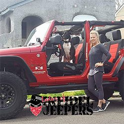 Christine with Jeep